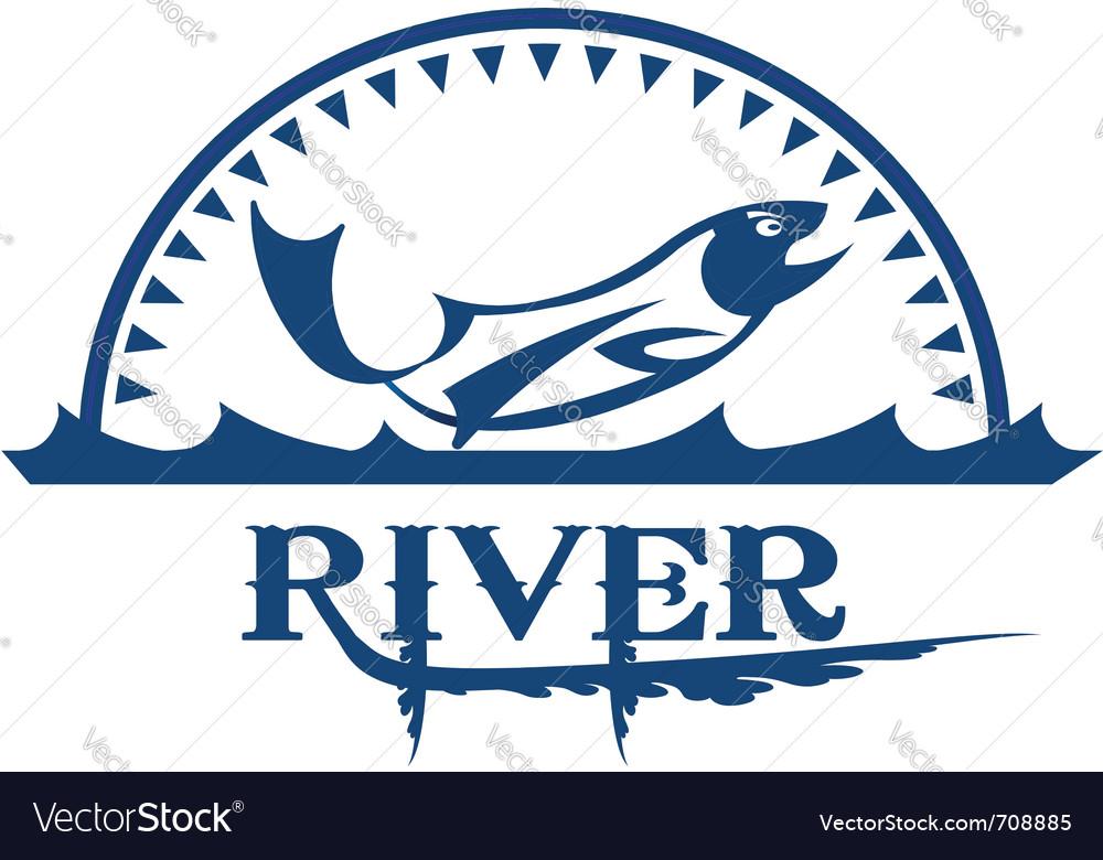 River icon vector image