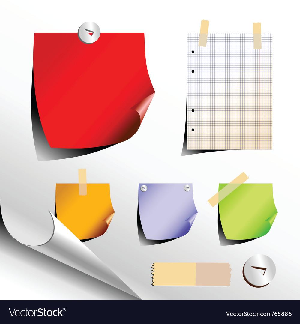 Paper elements vector image