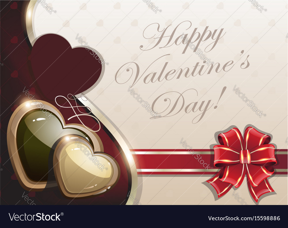 Retro valentines day background vector image