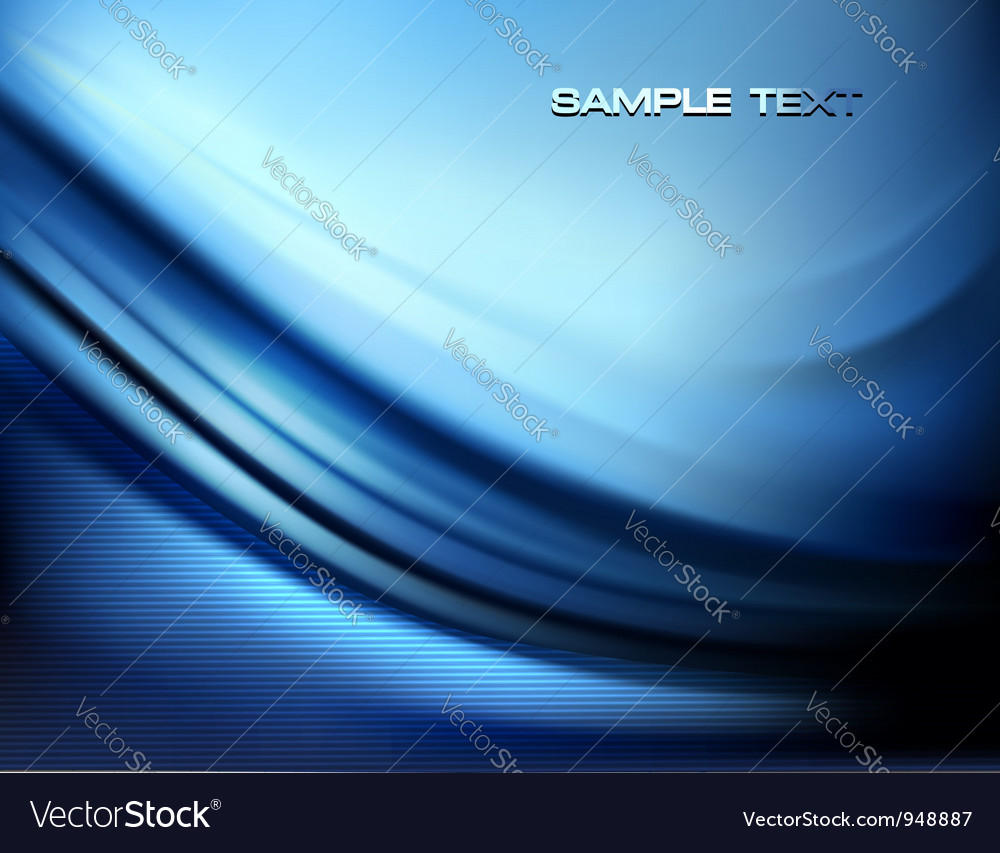Blue neon abstract background vector image
