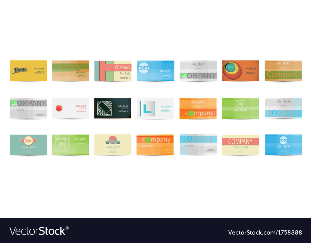 Set of Business Card in vector image