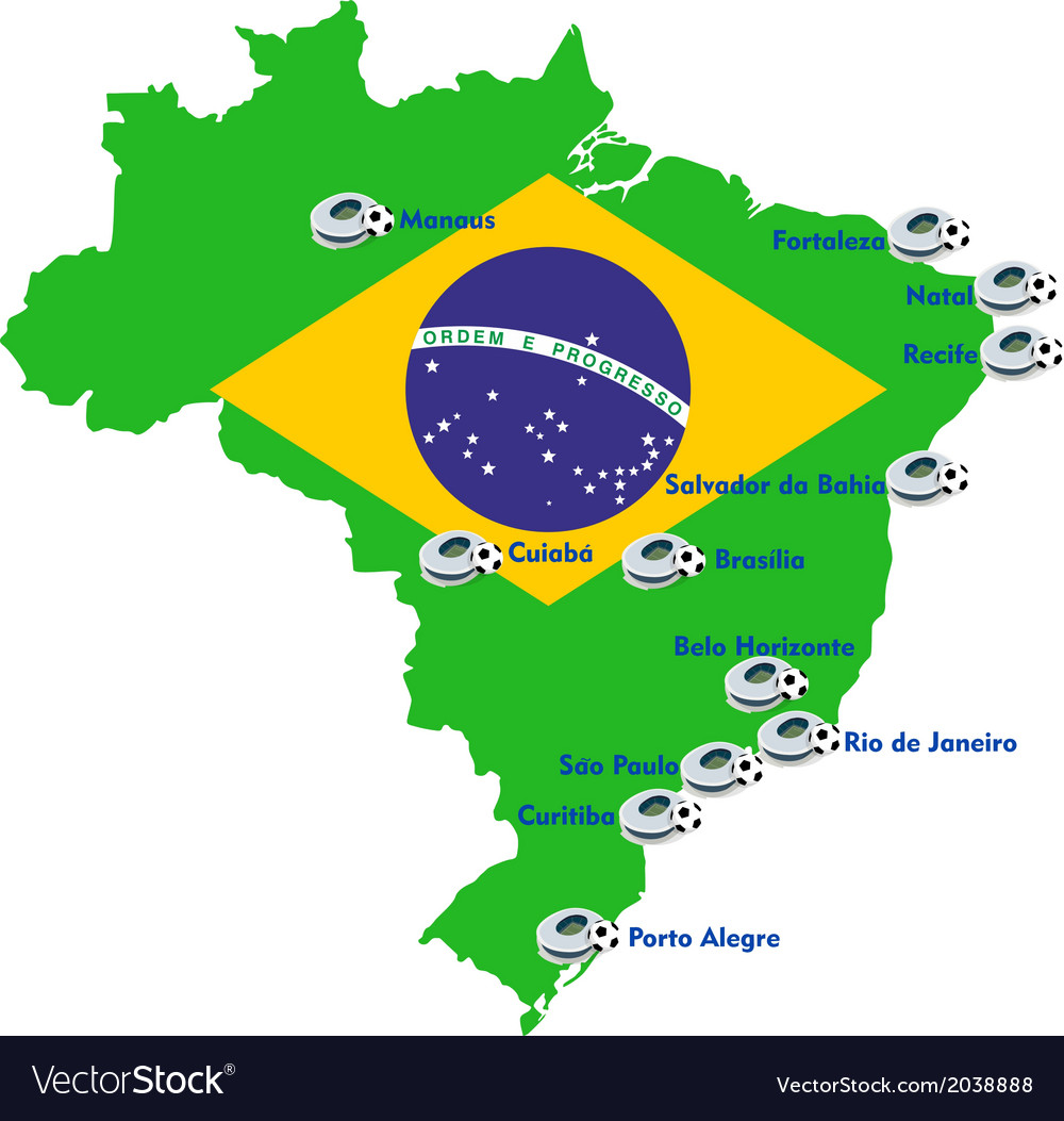 Brazil map royalty free vector image vectorstock brazil map vector image gumiabroncs Choice Image