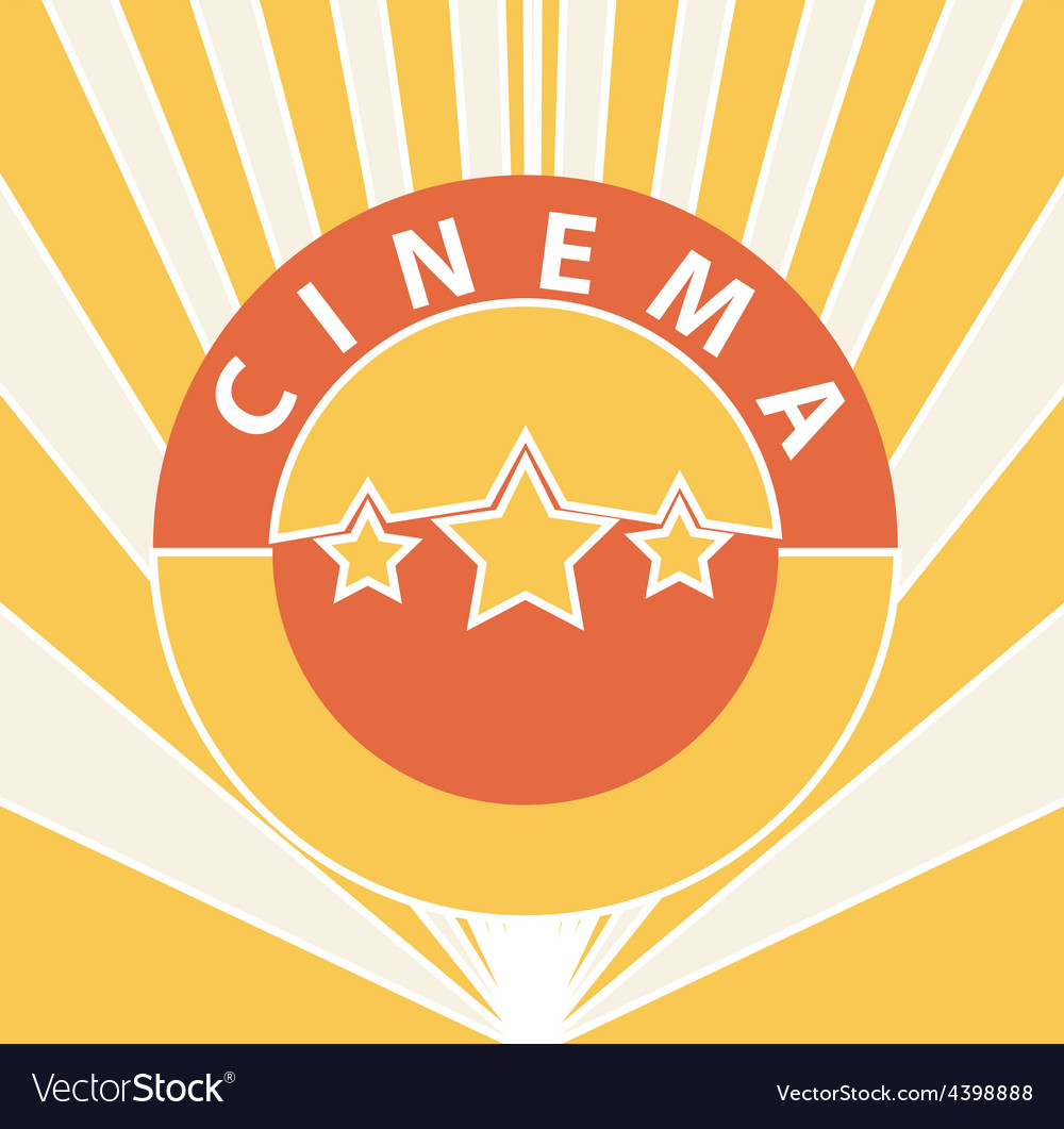 Cinema abstract background vector image