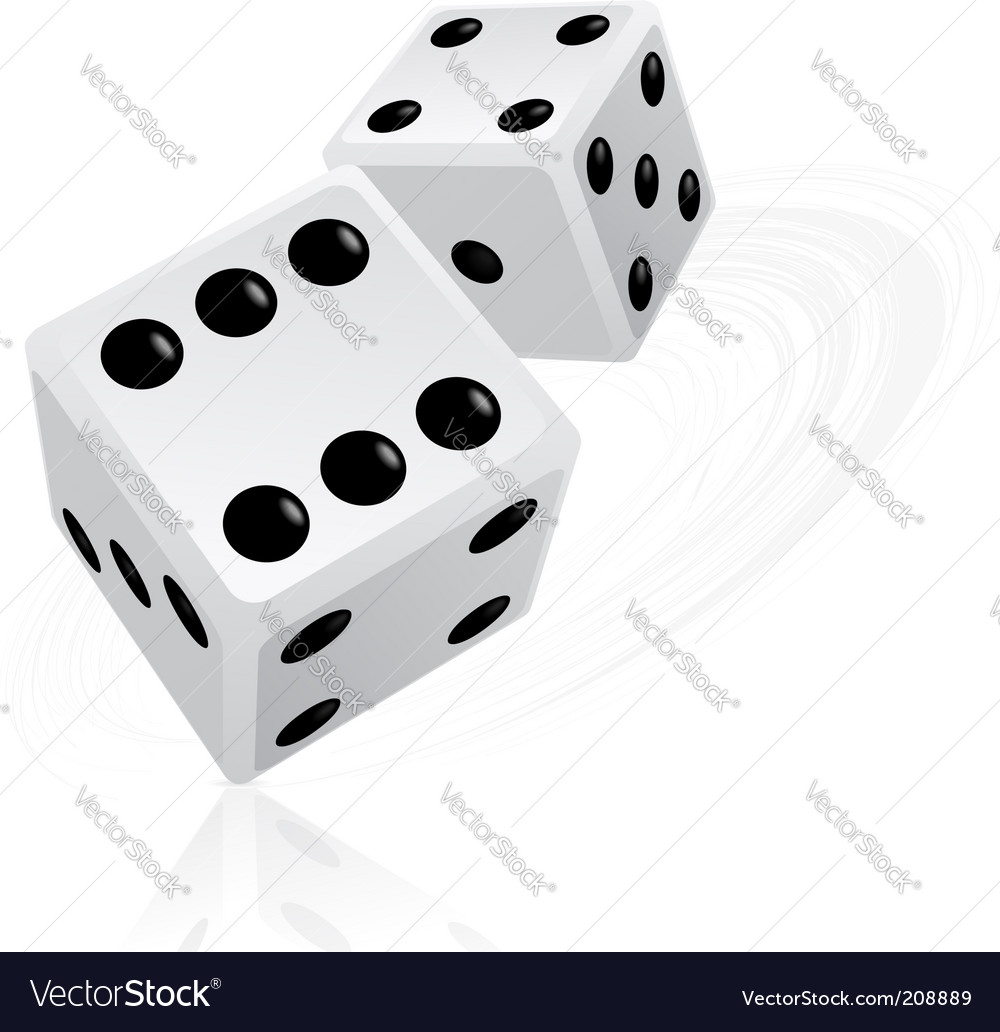 Dice objects vector image