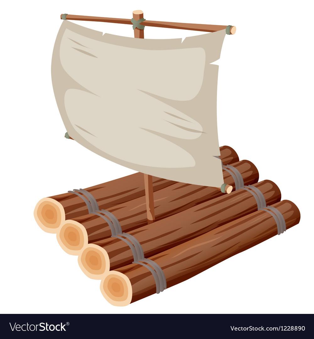 Raft vector image