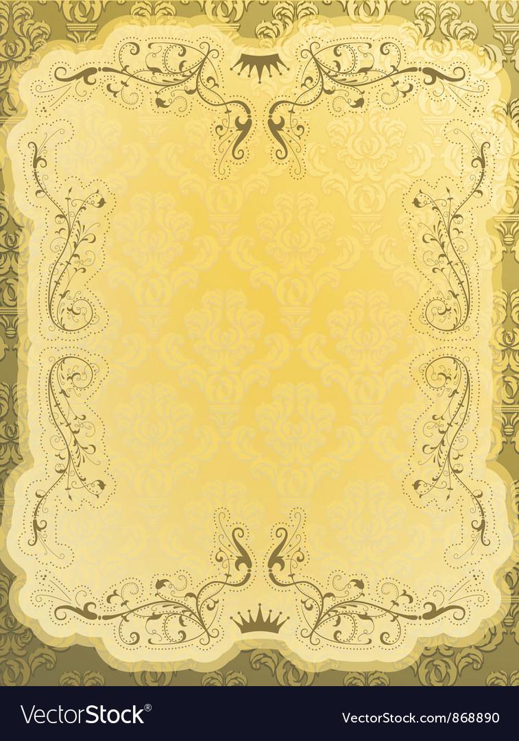 Elegant vintage background vector image