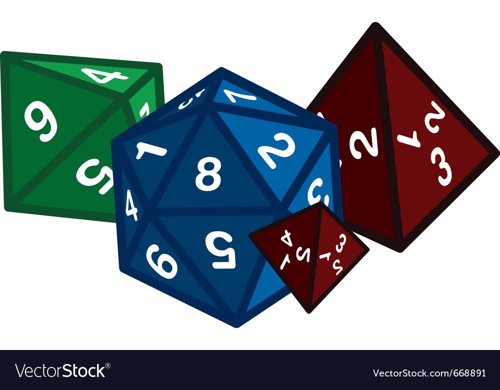 Polyhedral dice vector image