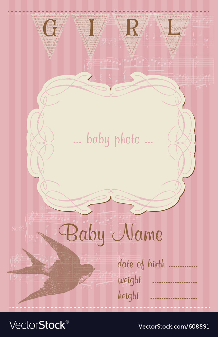 Beautiful arrival vintage card vector image