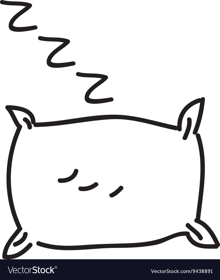 Drawing pillow isolated icon design vector image