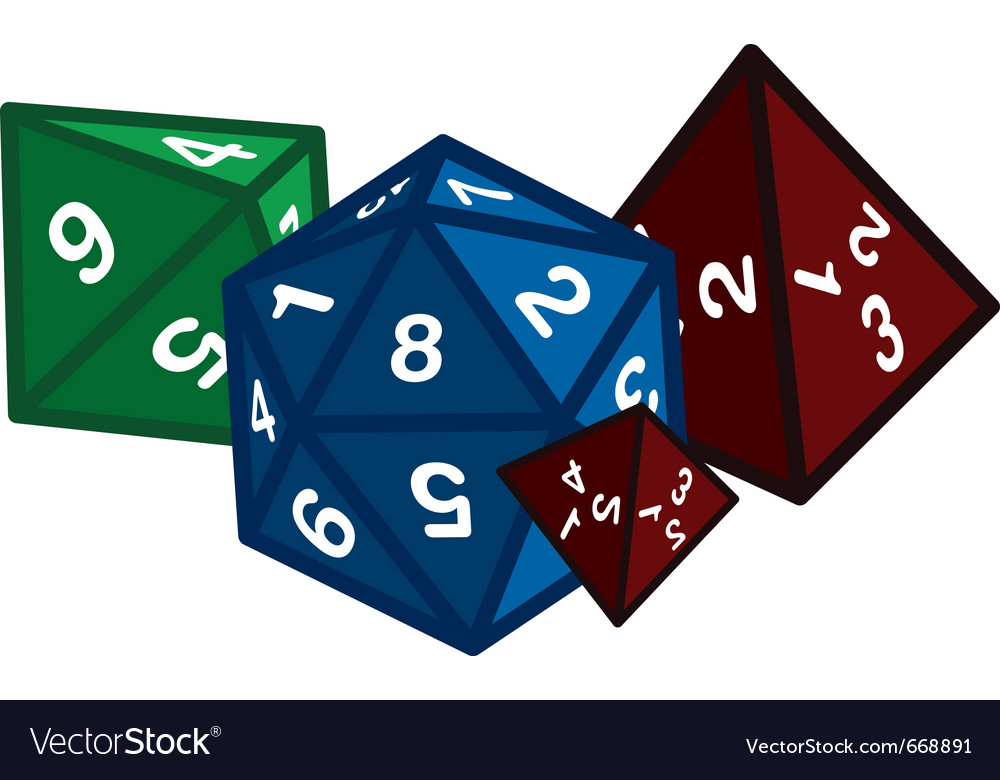 Polyhedral dice vector image