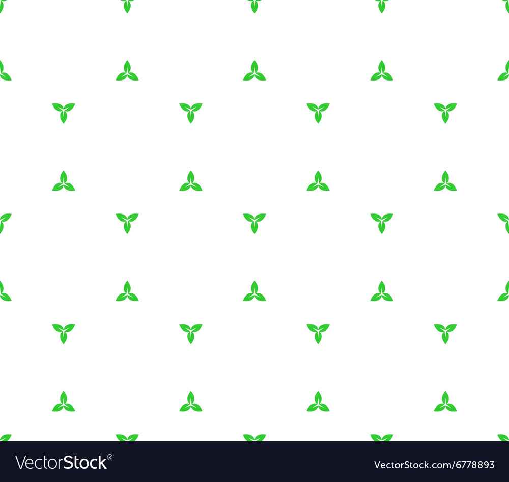 Floral seamless pattern with distant three plant vector image