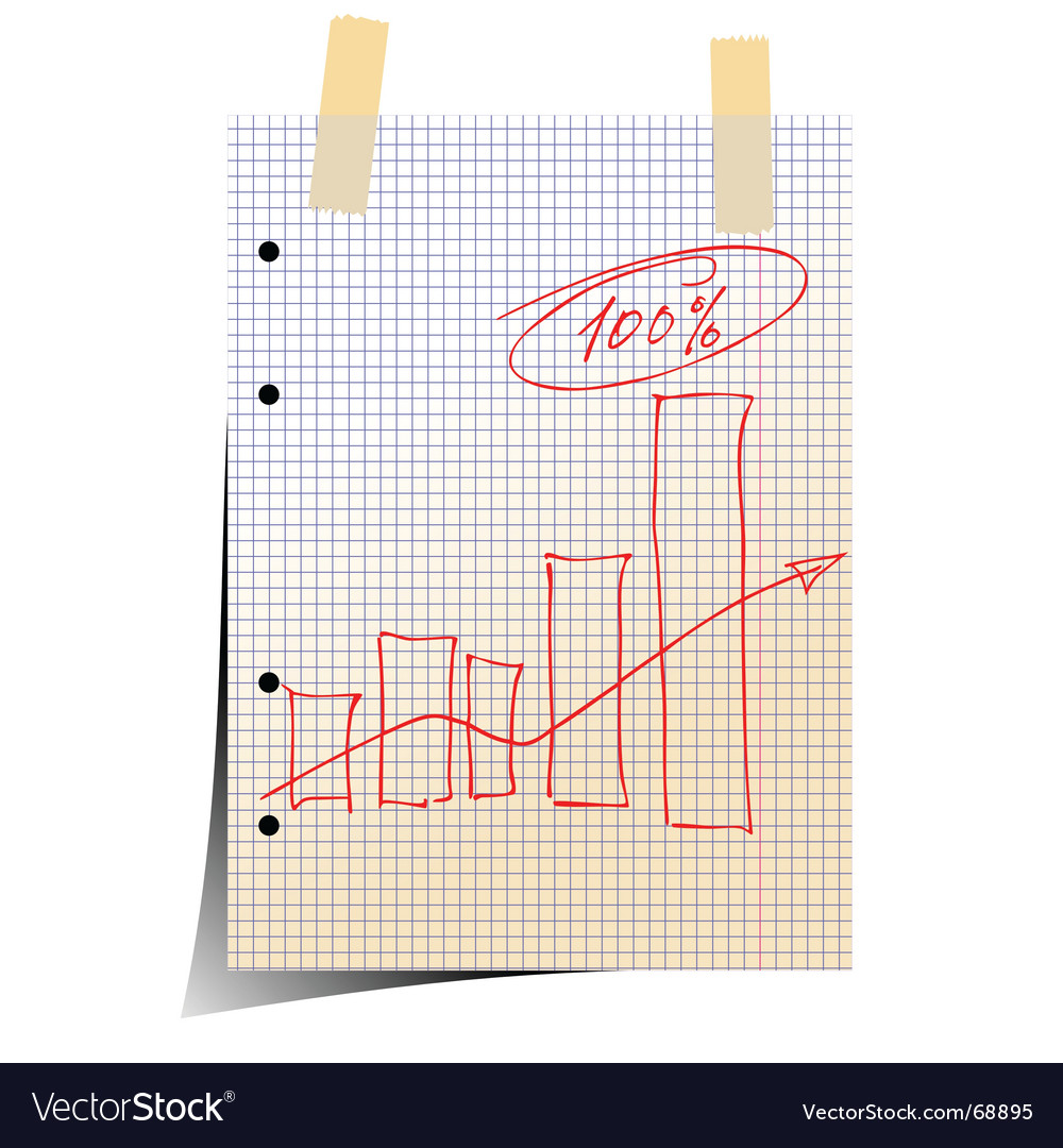 Statistic graph vector image