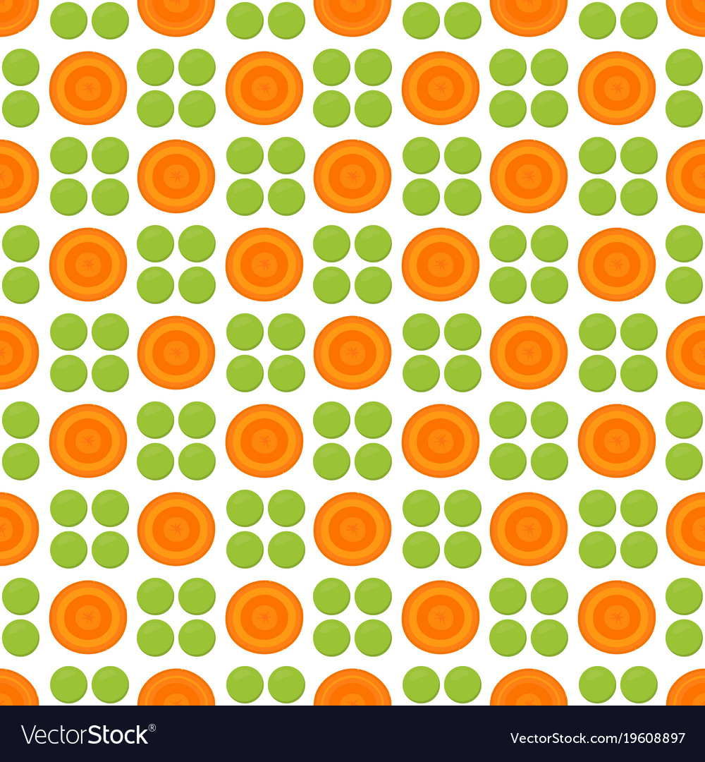 Pattern with peas and carrot vector image