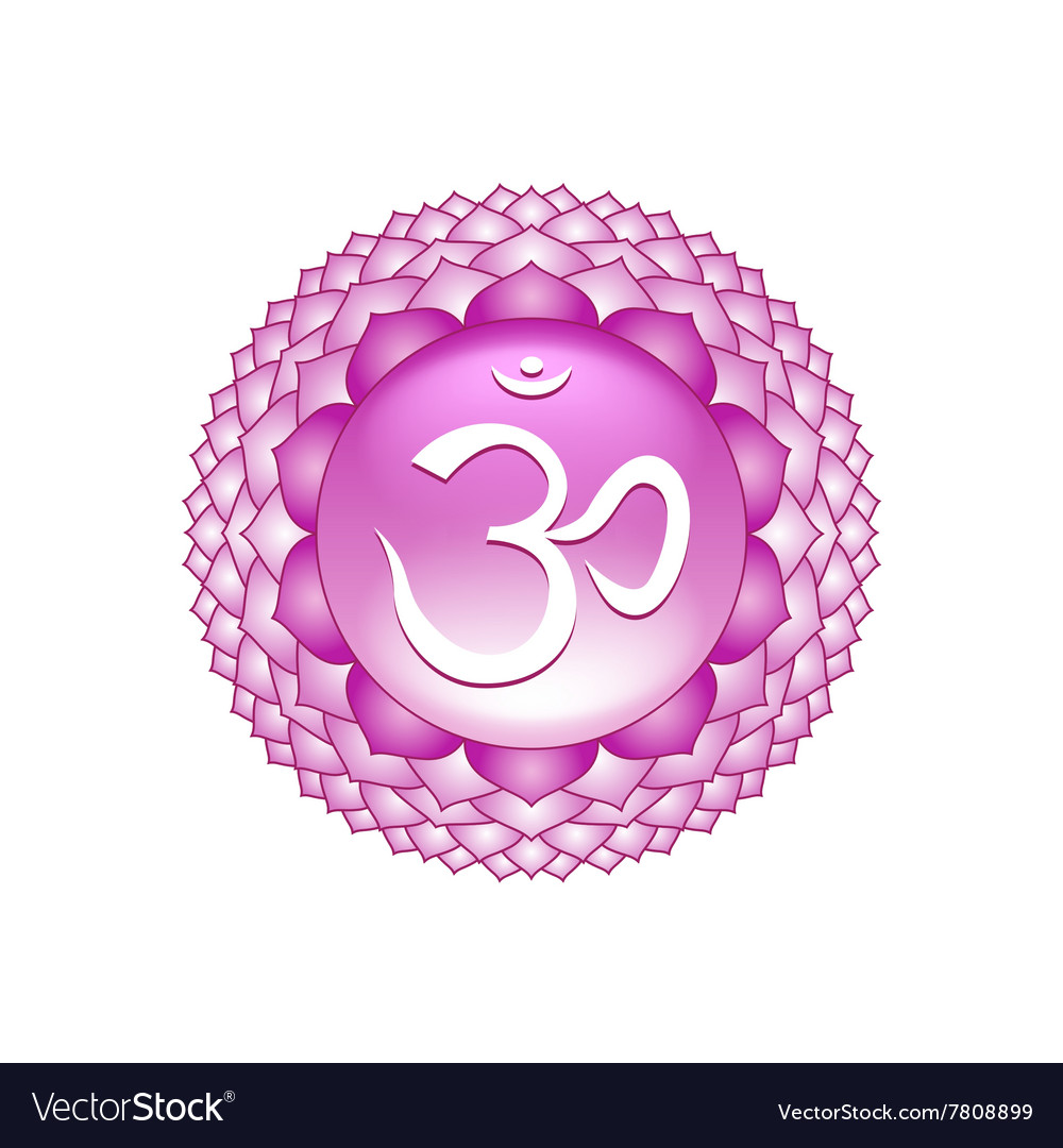 Sahasrara chakra symbol isolated on white vector image buycottarizona Image collections