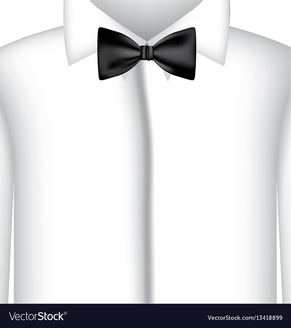 Sticker shirt with bow tie icon vector image