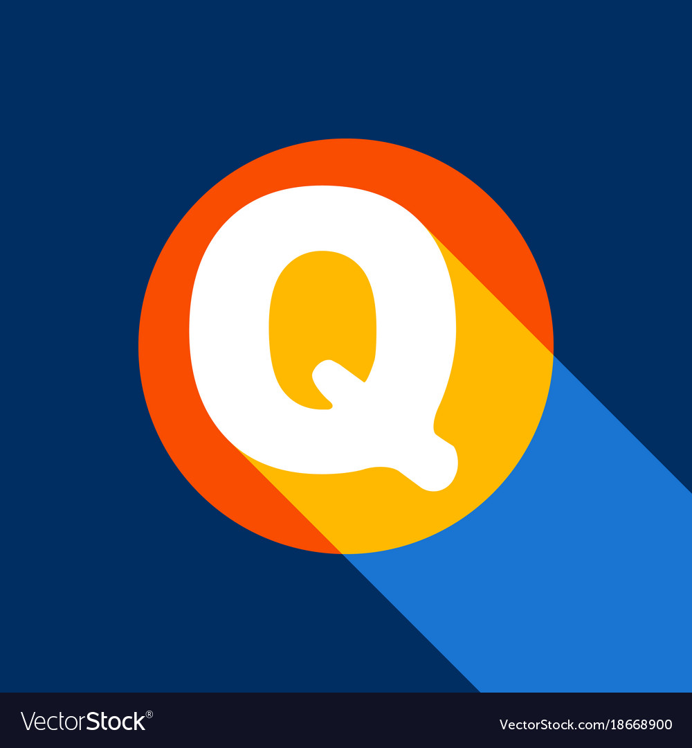 Letter q sign design template element vector image