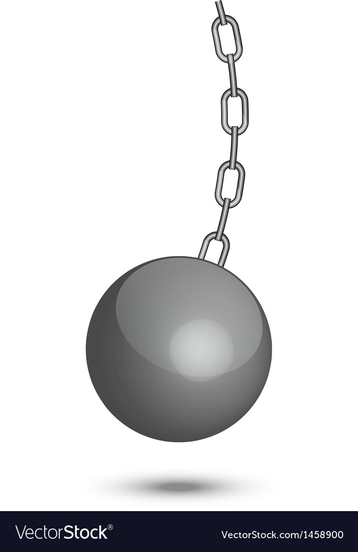 Wrecking ball vector image