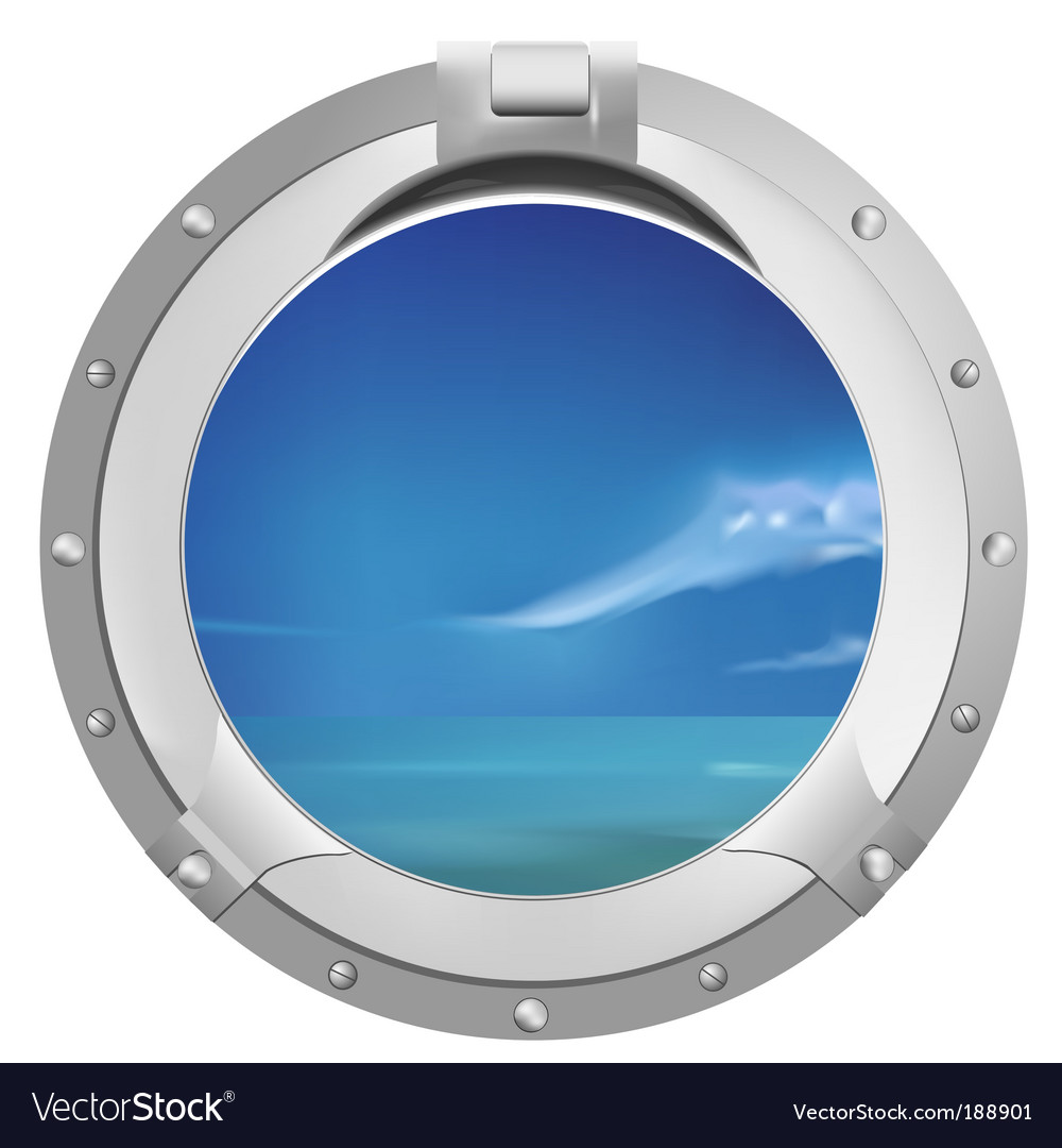 Ship window vector image