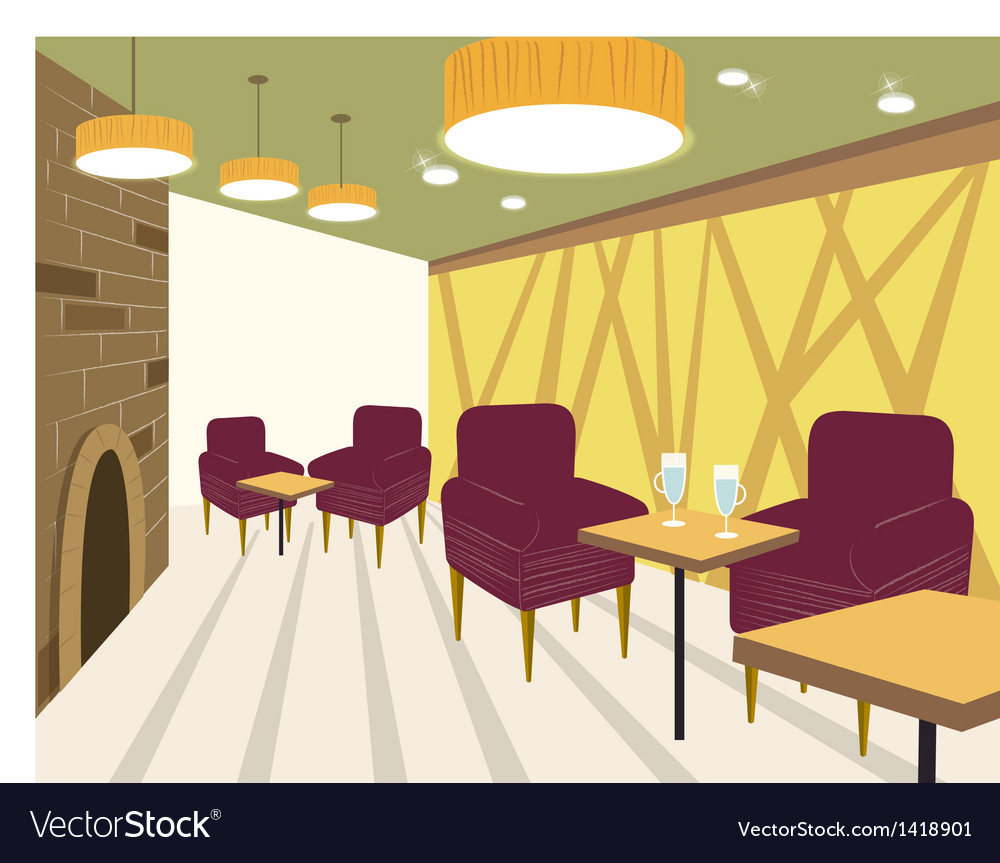 Restaurant interior background royalty free vector image
