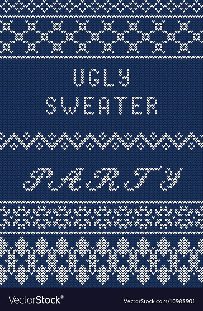 Ugly sweater template vector image
