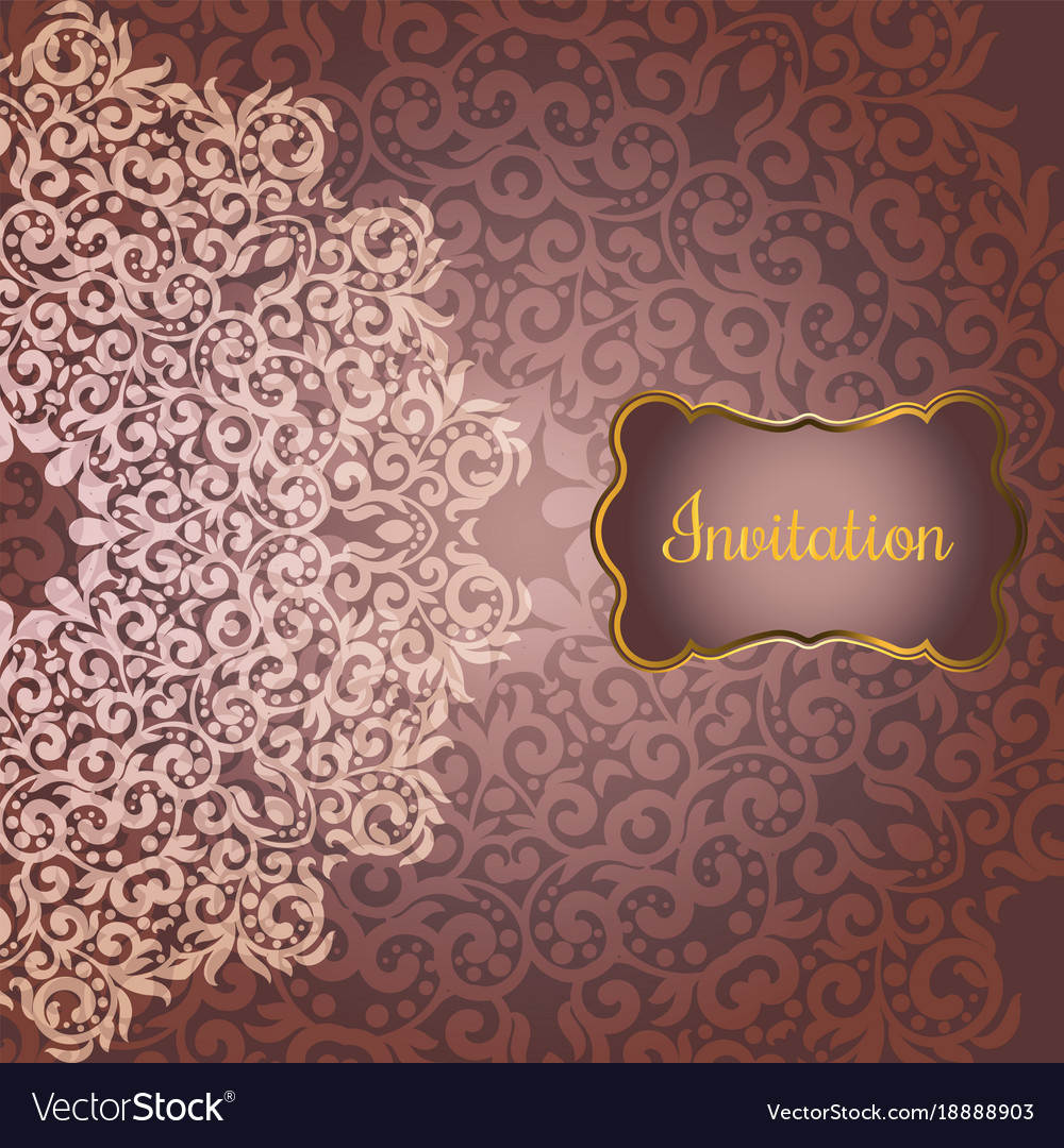 Wedding invitation or greeting card Royalty Free Vector