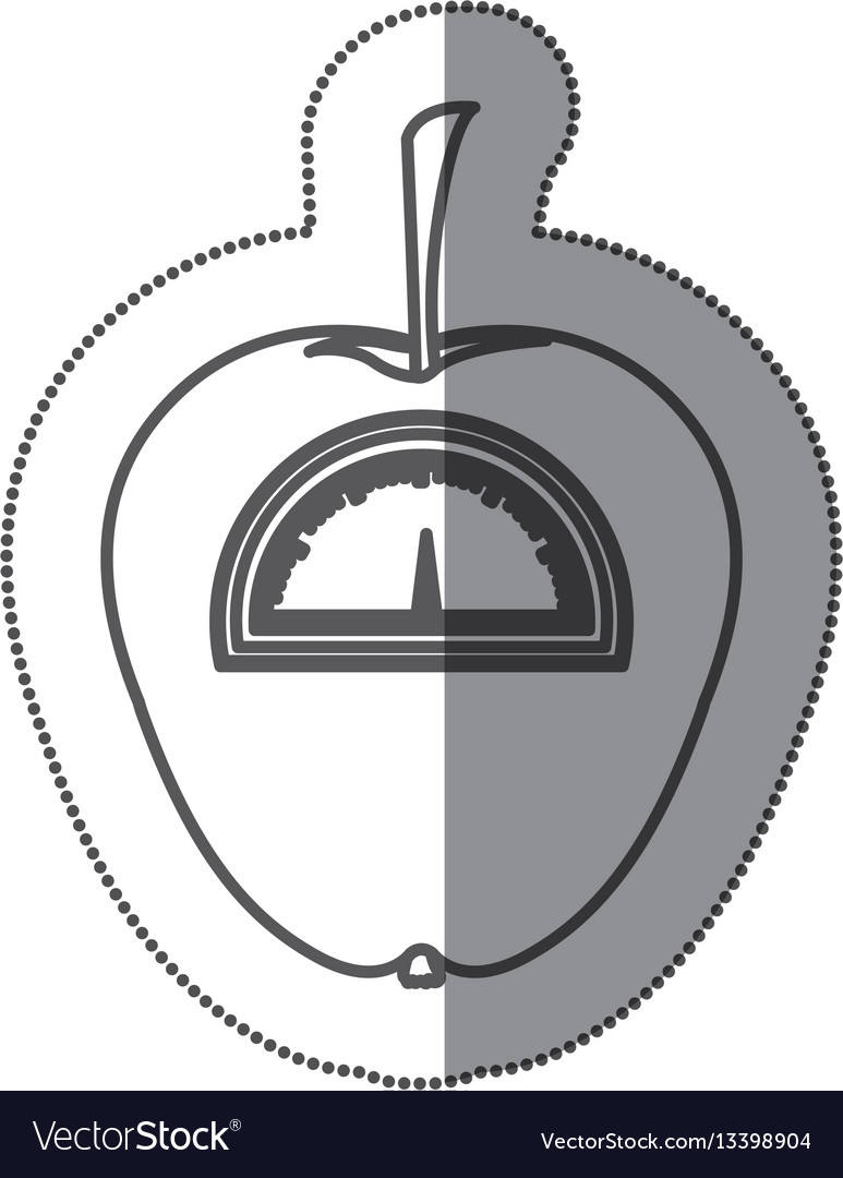 Figure apple weight scale icon vector image