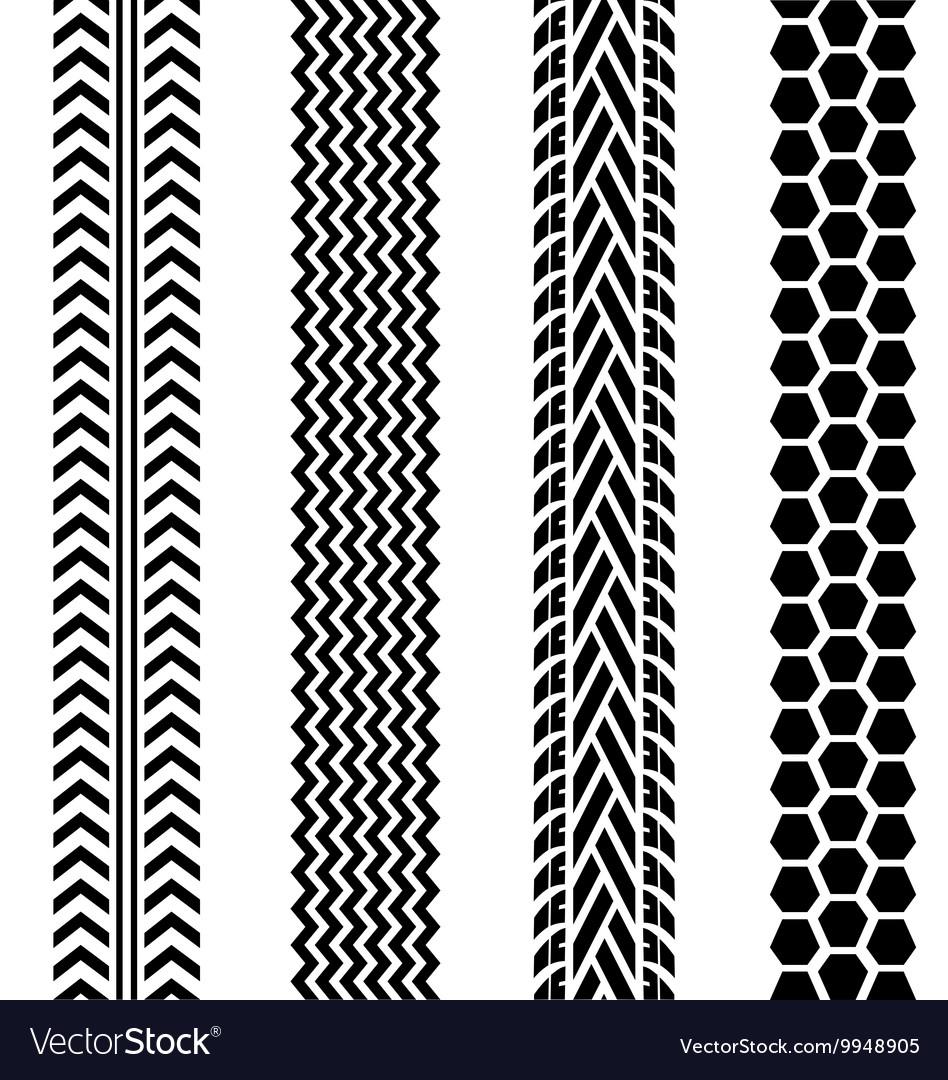 black tire tracks set on white background vector image rh vectorstock com tire track vector art tire track vector free