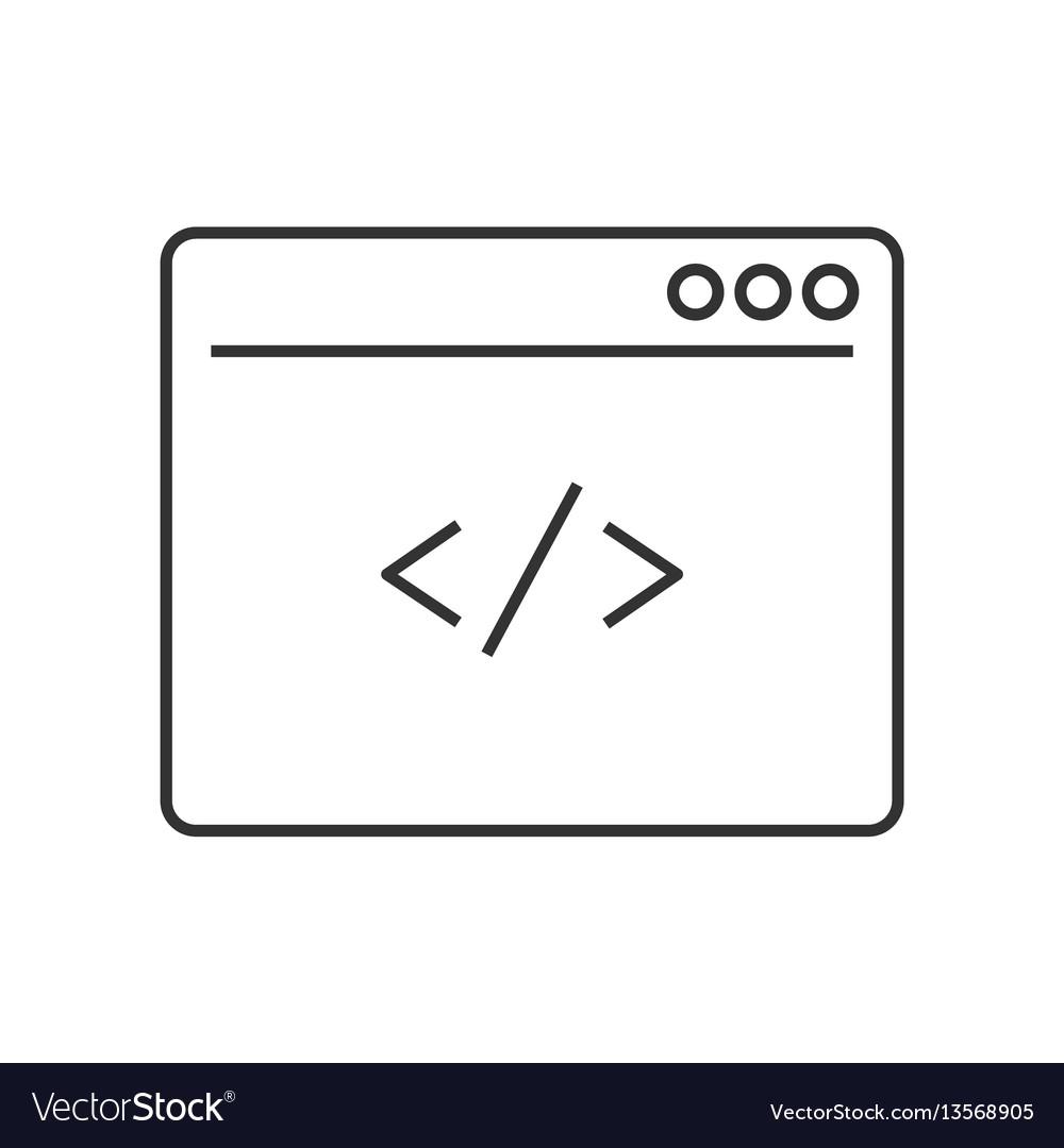 Custom coding line icon vector image
