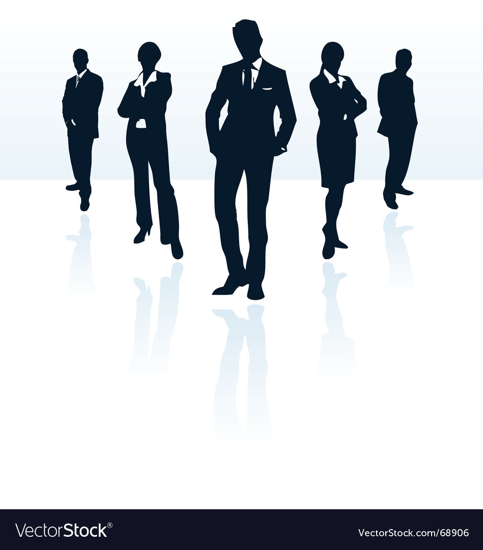 Businessman and woman Vector Image
