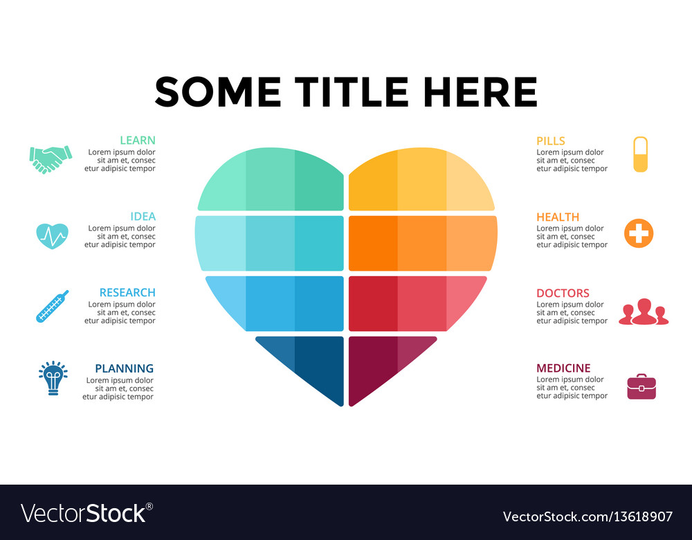 Love Infographic Medical Diagram Heart Royalty Free Vector