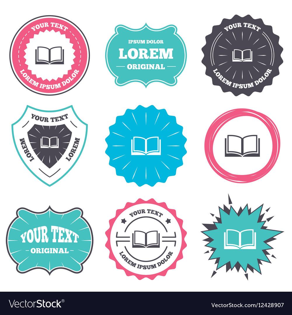 Book sign icon Open book symbol vector image