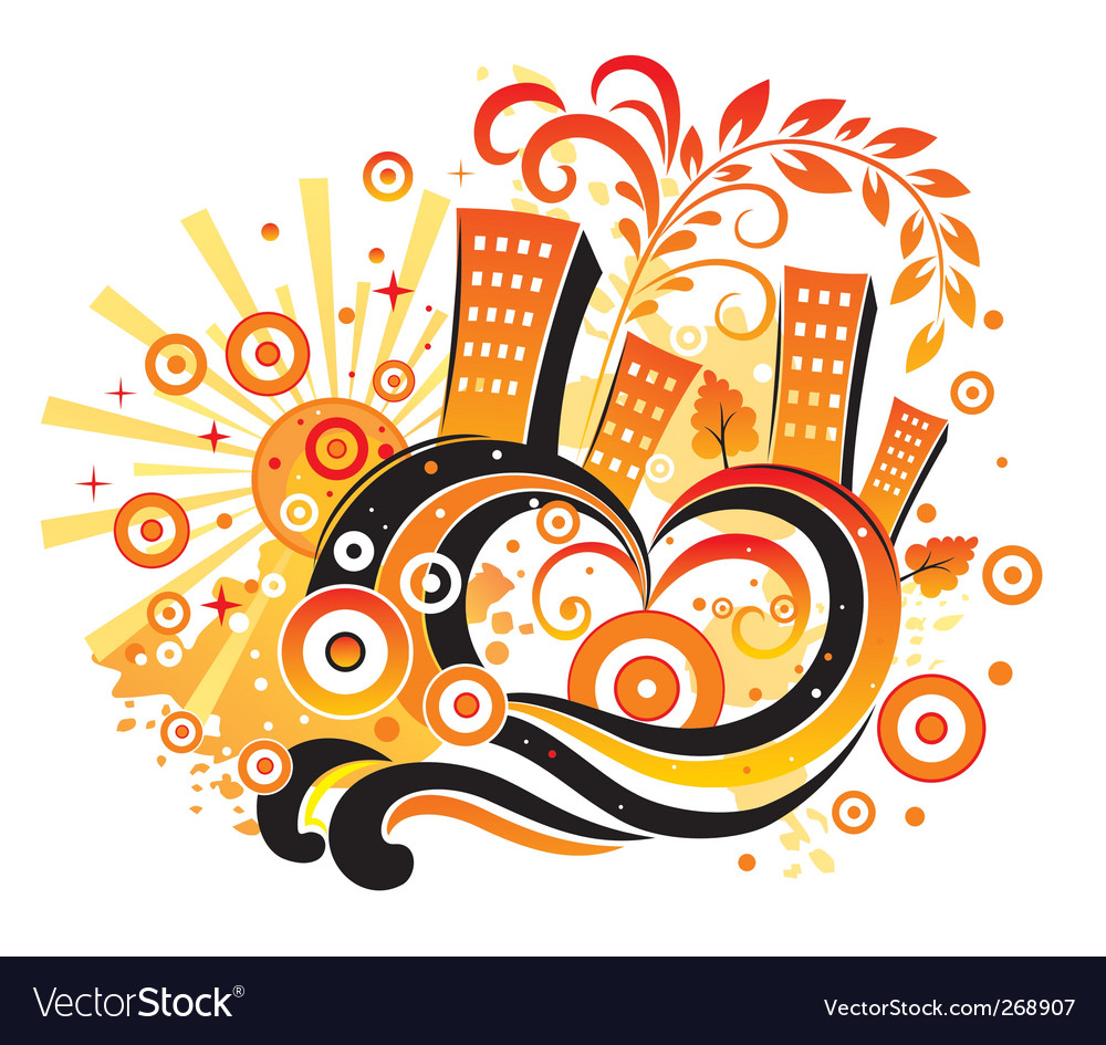 Cheerful city vector image