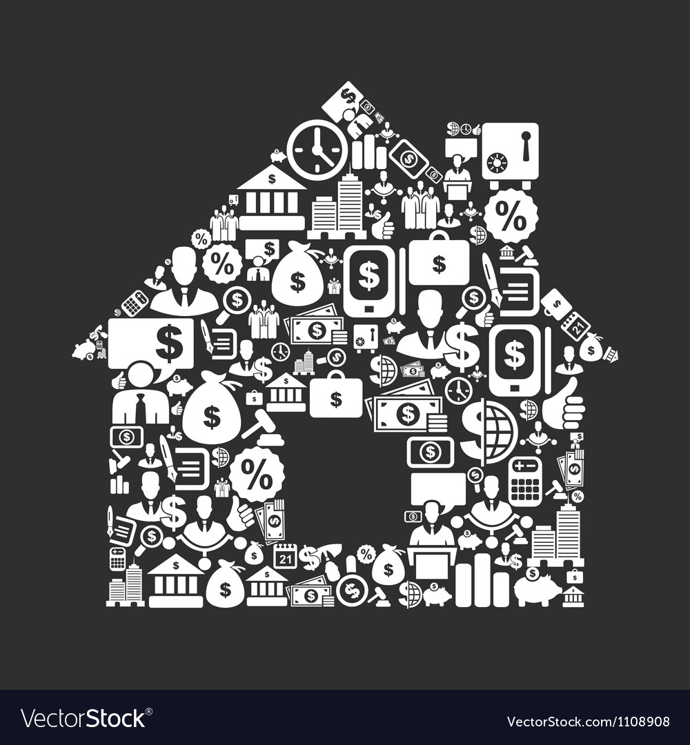 Business the house vector image
