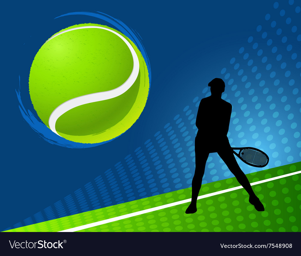 Sport background tennis vector image