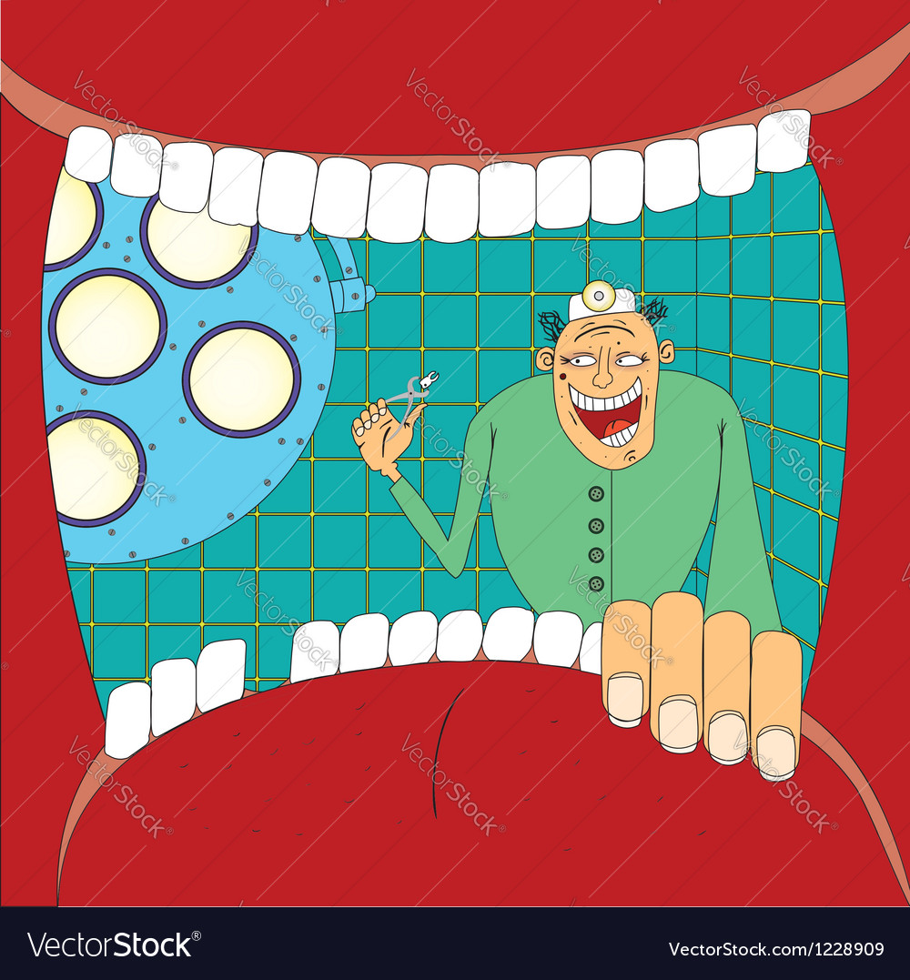 Doctor stomatologist vector image
