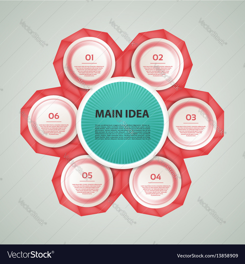 Business concept with 6 options vector image