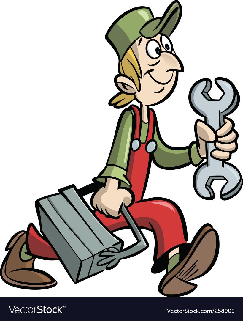 Handyman vector image