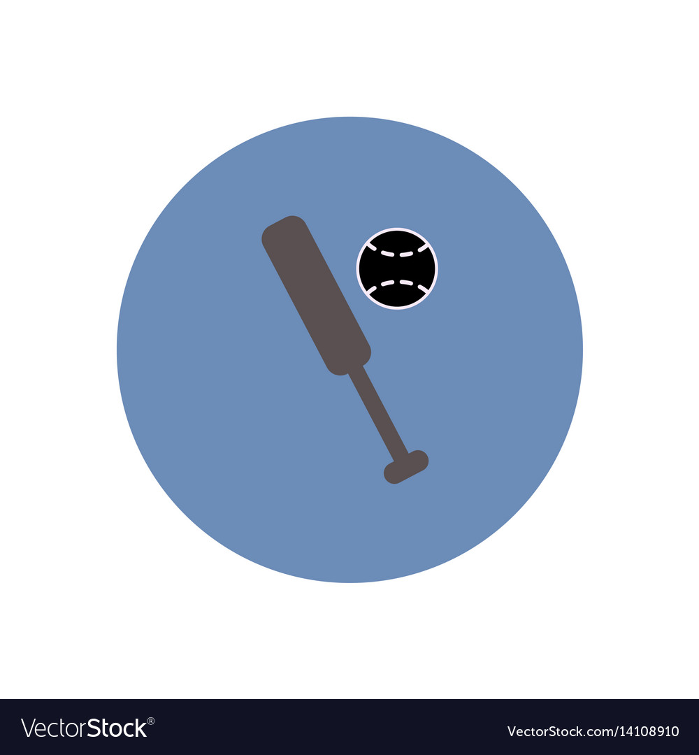 two crossed baseball bats icon icon cartoon