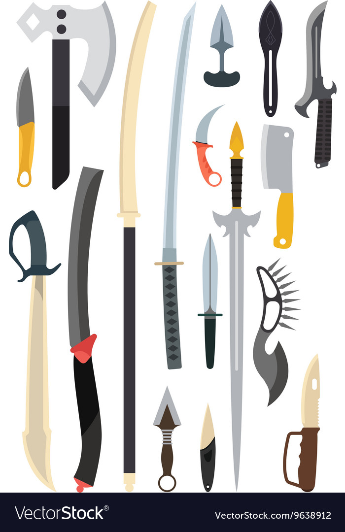 Knifes weapon Toy train vector image