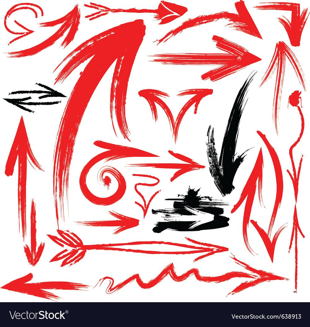 Handwritten arrows vector image