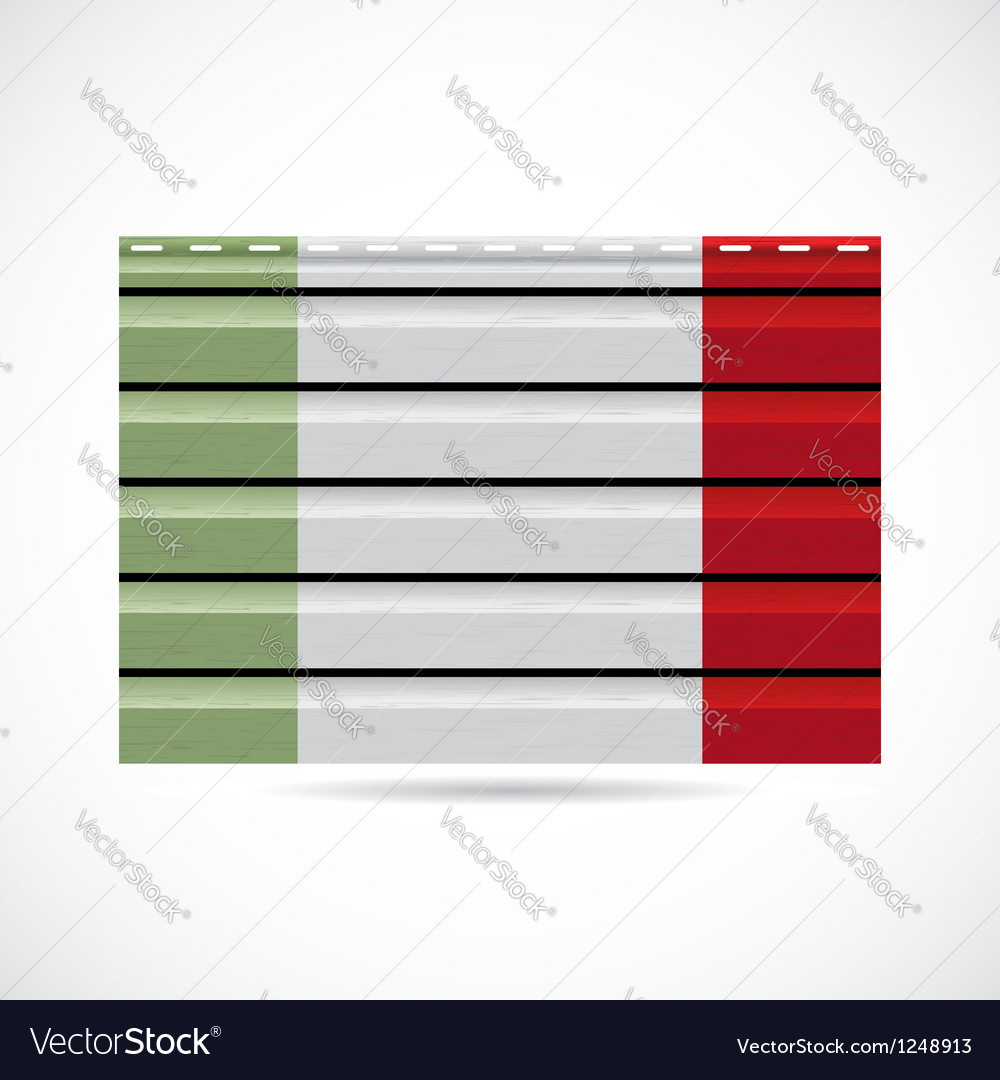 Italy siding produce company icon vector image