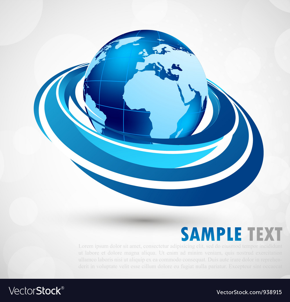 Background with earth vector image