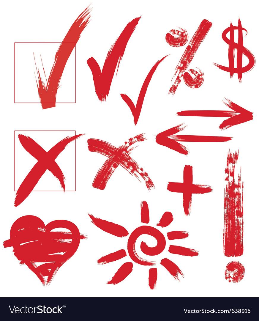 Handwritten marks vector image