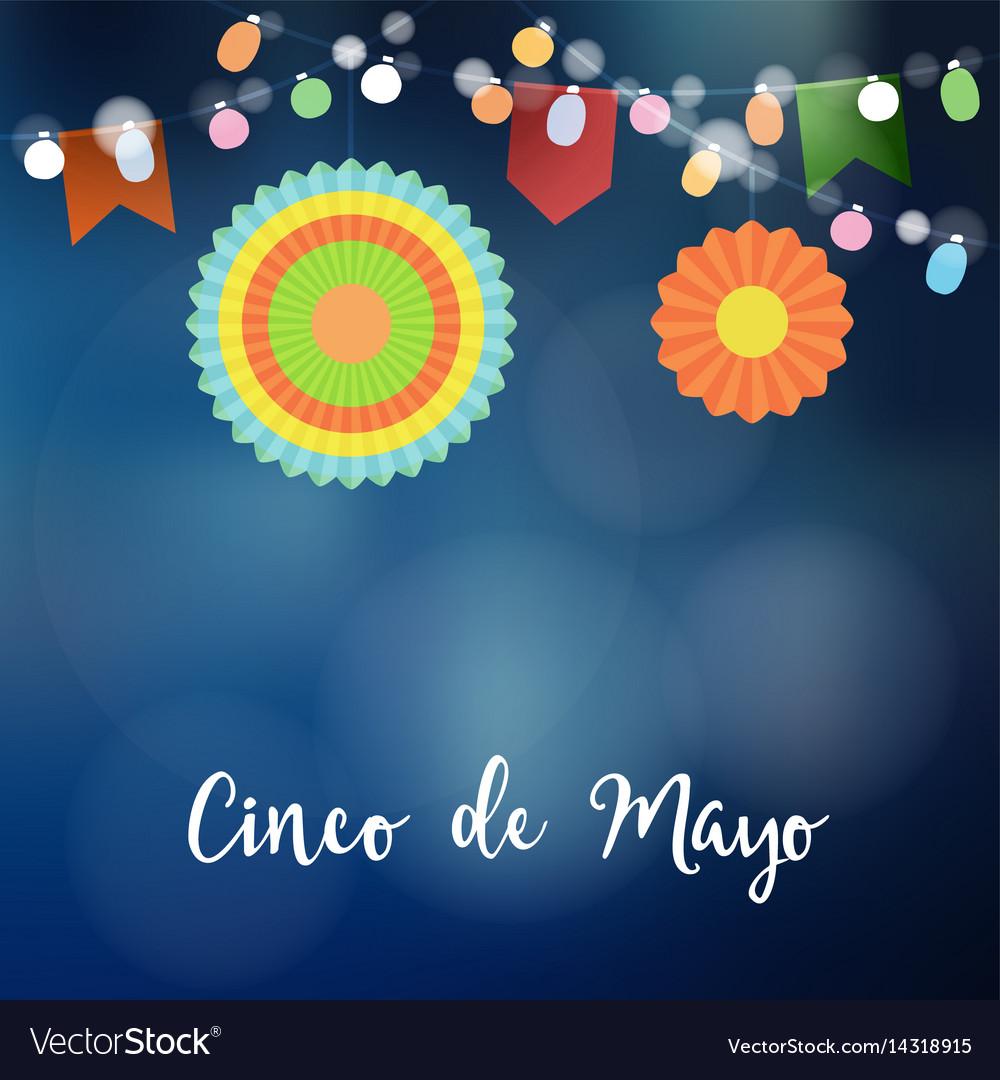 Mexican cinco de mayo greeting card invitation vector image mexican cinco de mayo greeting card invitation vector image stopboris Images