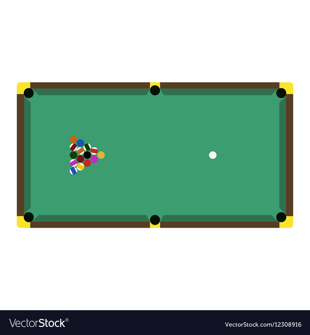 Billiards game table equipment vector image