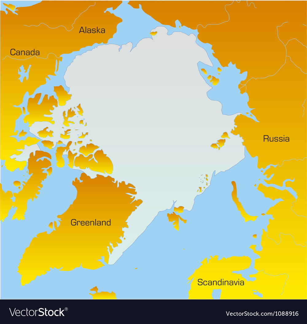 Map of North pole Royalty Free Vector Image  VectorStock
