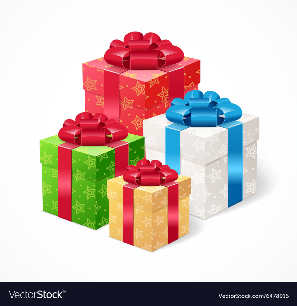 Present Box Set vector image
