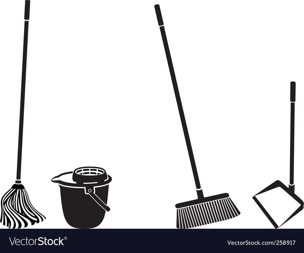 Floor cleaning vector image