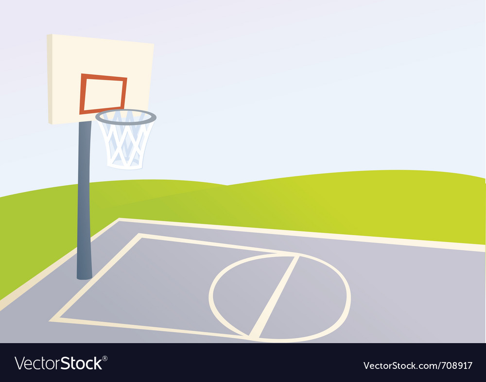 Cartoon basketball court vector image