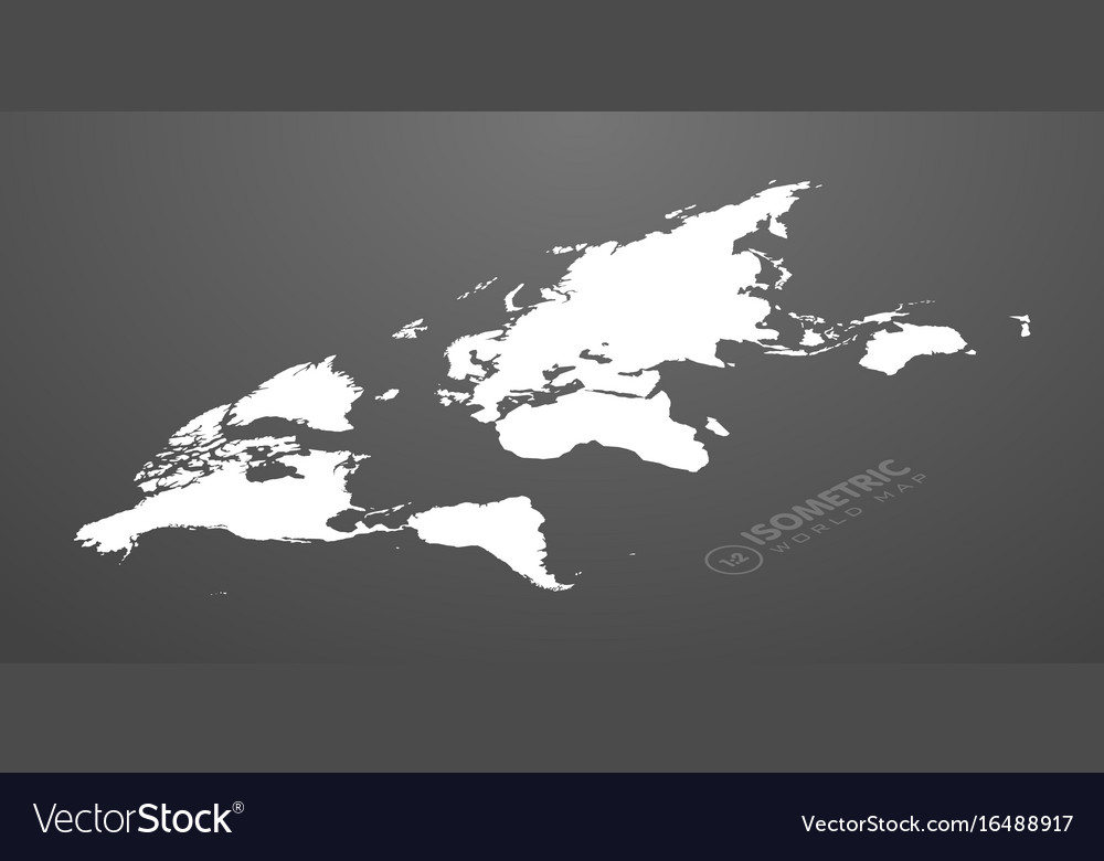 Isometric world map in dark background royalty free vector isometric world map in dark background vector image gumiabroncs Images
